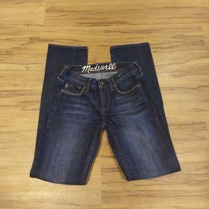 Madewell Rail Straight Jeans Dark Wash (25)